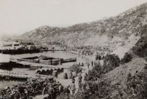 Helles Bay April 1915